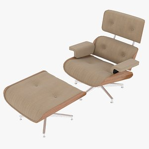 eames ottoman fabric wooden model