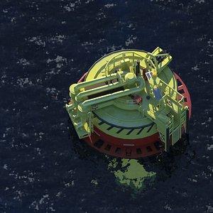 Oil or gas terminal 3D