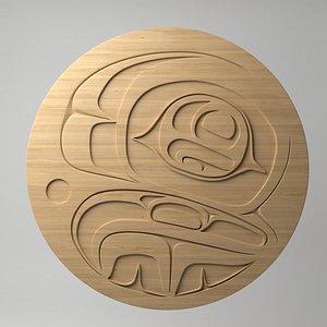 northwest coast art circular 3D model