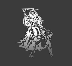 devil evil logo 3D model