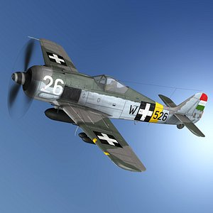 Focke Wulf - FW190 F8 - W526 - Hungary 3D