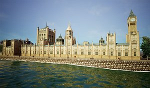 3D model big ben palace westminster
