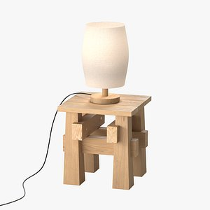 3D model Tabouret with lamp