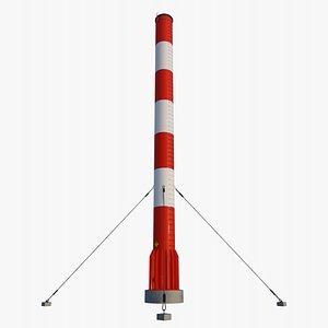 3D industrial chimney