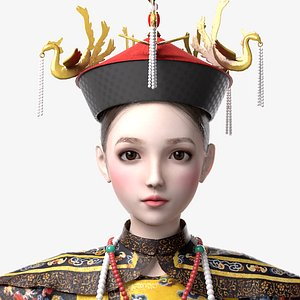 Empress of Qing Dynasty model