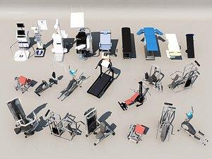 Gym fitness equipment model