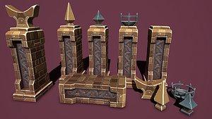 3D Fantasy obelisk