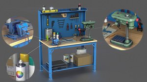 workbench tool industrial 3D