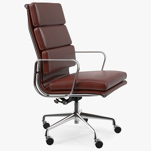 Executive Chair Brown Leather 3D model