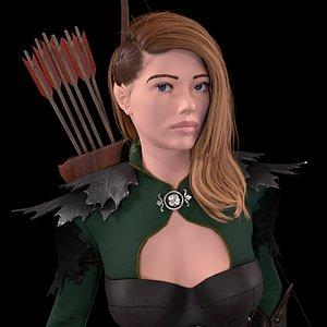 Elf Girl Archer 3D