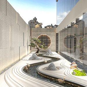 Chinese Exterior Yard Scene 3D model