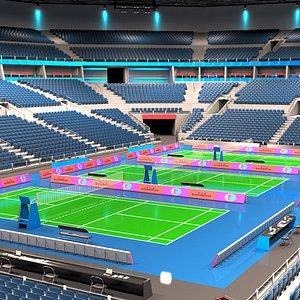 Badminton Stadium 3D model
