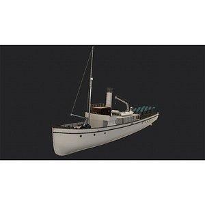 3D minelayer ship model