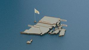 3D rhode flag
