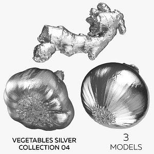 Vegetables Silver Collection 04 - 3 models 3D model