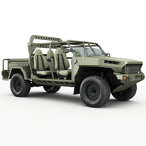 3D Electric Chevy Colorado ZR2 military ISV