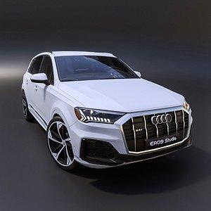 2021 Audi Q7 s line 3D model