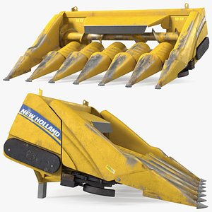 New Holland Agriculture 980CR Corn Header 6 Rows 3D model