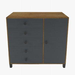 3D dresser furniture commode