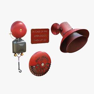 3D Fire Alarm Trio model