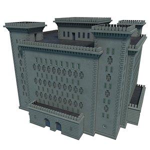3D Reichsbahn Berlin Castle Concrete 1