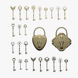 3D key lock model