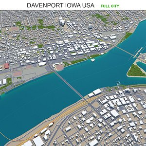 3D model Davenport Iowa USA