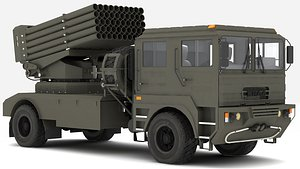 3D BM-21UM  MLRS