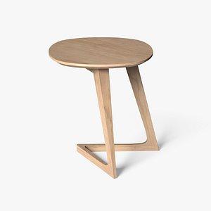 3D Mullaney C Table Maple finish