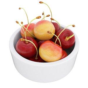 3D Cherry bowl 3 model