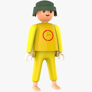 3D Playmobil Character With Emojis