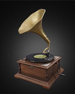 3D gramophone phonograph platter