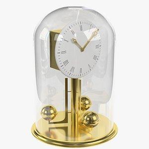 3d antique vintage brass clock