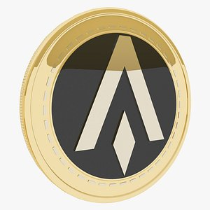 ABLE Dollar X Token Cryptocurrency Gold Coin model