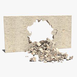 3D Animated Broken Wall