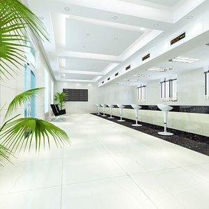 Client Service Hall 3D