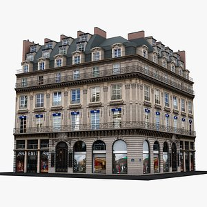 Typical Parisian Apartment Building 32 3D model