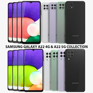 3D Samsung Galaxy A22  4G and A22 5G Collection