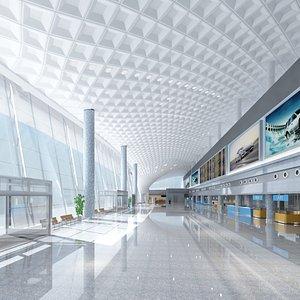 Airport Terminal Interior 3D model