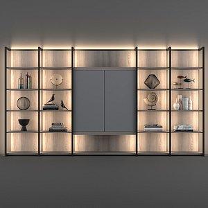continuum bookcase flou 3D