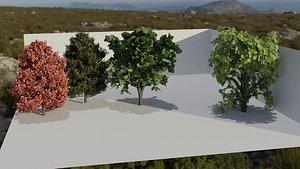 3D beautiful trees