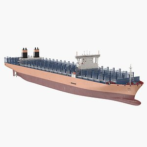 3D Container Ship Empty