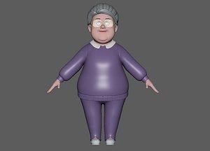 Cartoon  Old Woman model