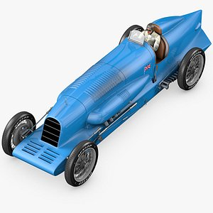 3D Bluebird 1927 Land speed record car