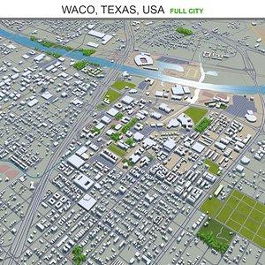 3D model Waco Texas USA