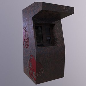 Bank ATM Game Ready Low-poly 3D model