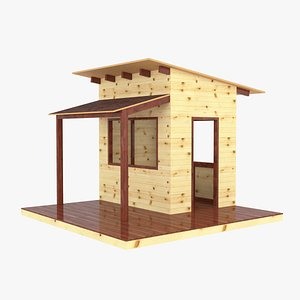 3D wooden children playhouses model