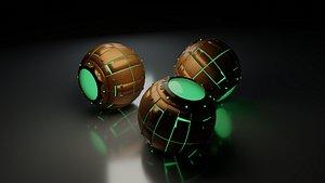 Spiderman Green Goblin Pumpkin Bomb 3D model