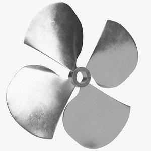 Four blades propeller fan 3D model