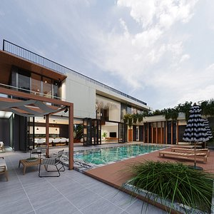 3D Exterior House Design 13 model